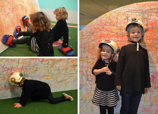 Drawing with their bodies at NGV's Pastello: Draw Act!\