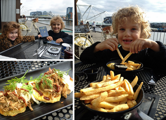 Kids at the Boatbuilders Yard Cafe & Bar