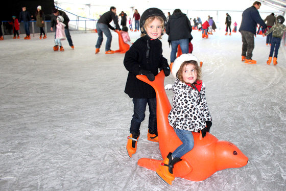 ice skating at HUnter Valley Gardens Snow Time in the Gardens - Hunter Valley Gardens Winter Wonderland 2019