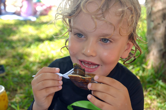 Raffles digs into the escargot in New Caledonia