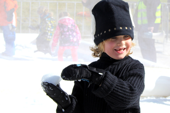 My ice ice baby on the attack at Hunter Valley Gardens Snow Time