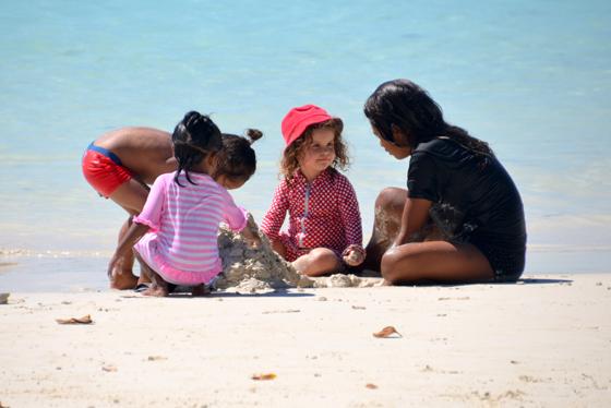 Sugarpuff and pals on the beach