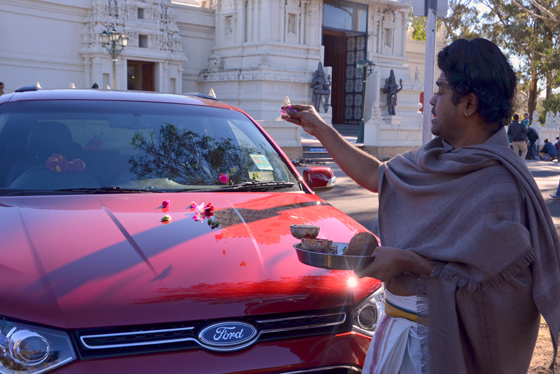 car pooja at Sri Venkateswara Temple