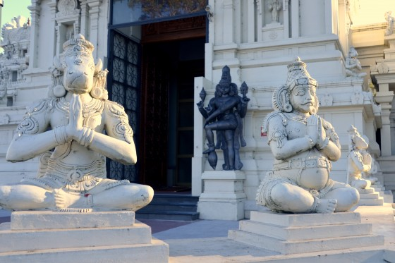 The entrance to Sri Venkateswara Temple, Helensburgh