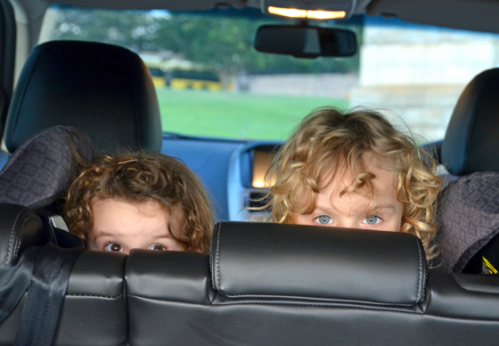 kids in a ford territory
