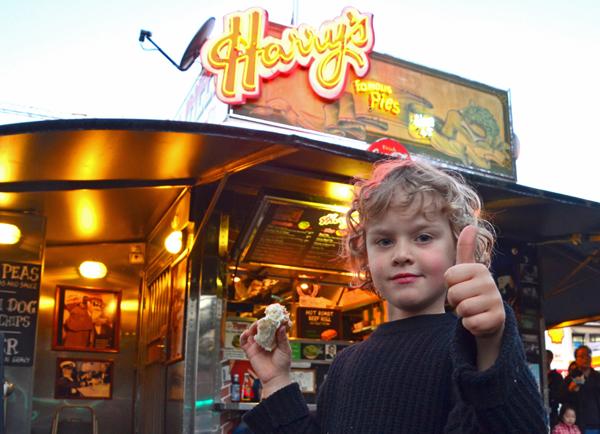 Kids at Harry's Cafe de Wheels