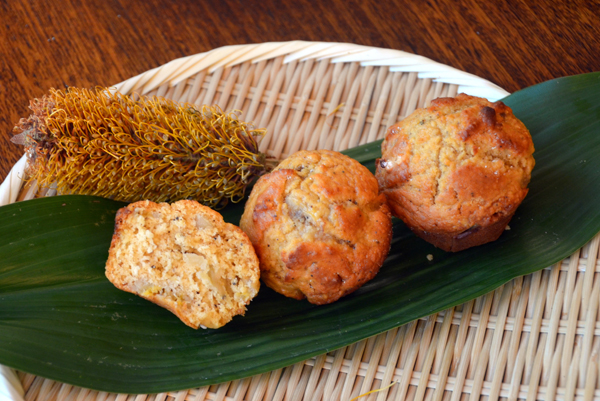 Watteseed, macadamia and crystelised ginger muffin recipe