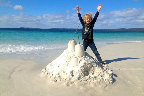 Sandcastles on Hyams Beach