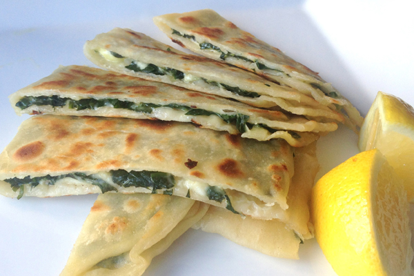 spinach and fetta gozleme recipe