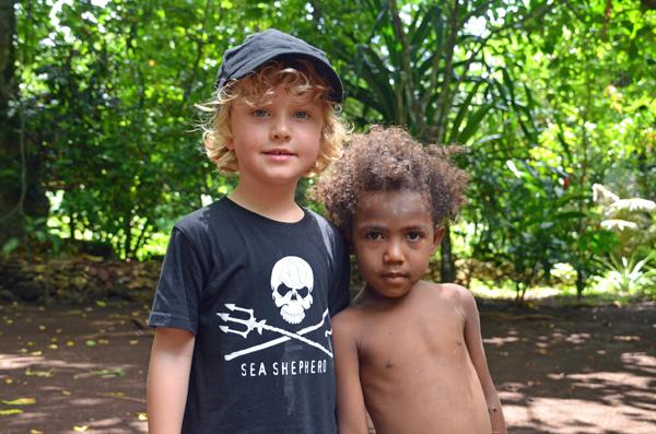 Kids at Iorofa Cultural Village