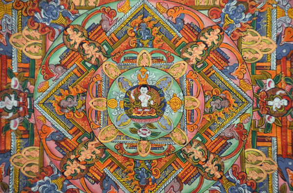 embroidered thangka