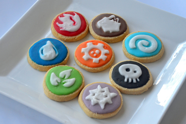 Skylanders element butter cookies