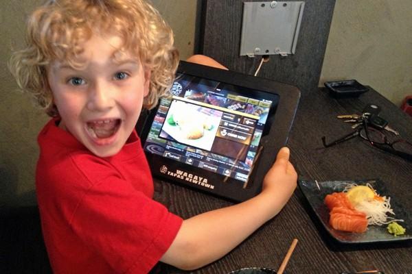 iPad ordering at Wagaya Tapas Newtown