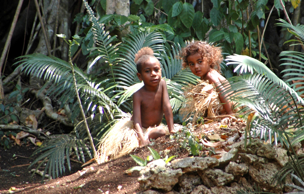 Port Vila village children