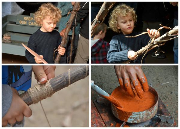 Kids spear making at Blak Markets