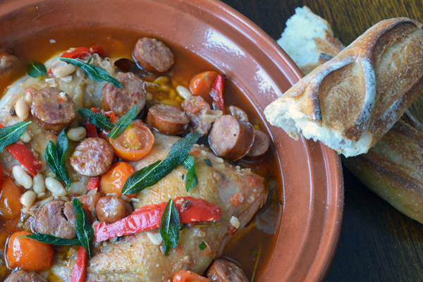 Basque Chicken With Chorizo recipe