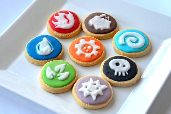 Skylanders element butter cookies