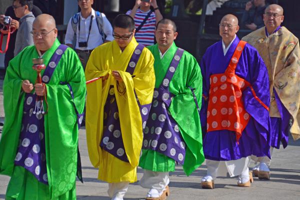 Monks at Naritasan Shinshoji Temple