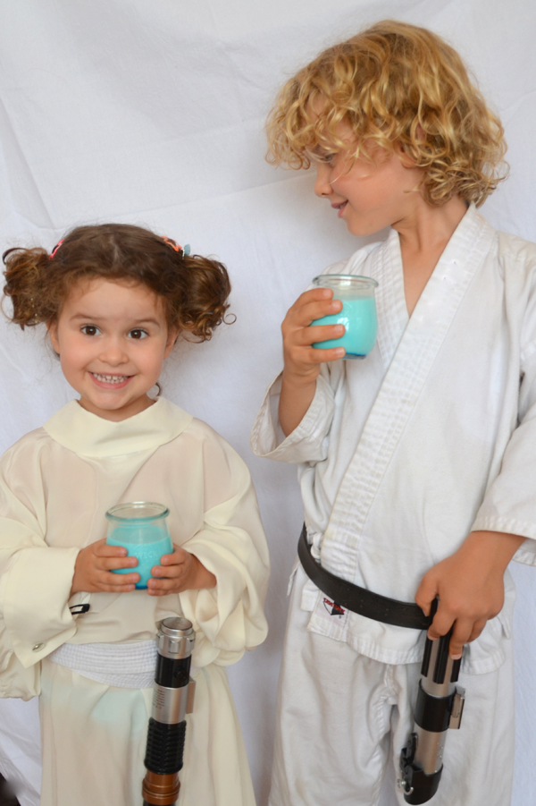 Star wars kids party blue milk