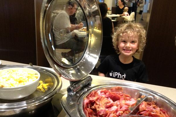 Breakfast buffet at Novotel Sydney Central