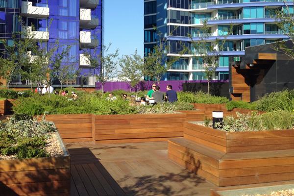 Sebel Melbourne Docklands Roof top garden
