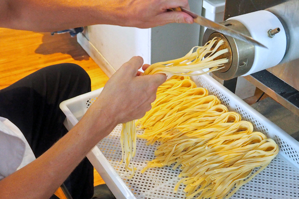 making pasta at A Tavola