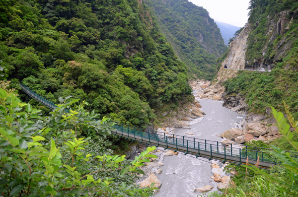 The Liwu River cuts through Toroko gorge, Taiwan