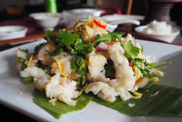 green mango salad with balmain bug meat