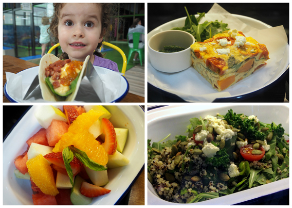 Healthy and delicious food choices at JUngle Buddies Play centre are certainly a bonus