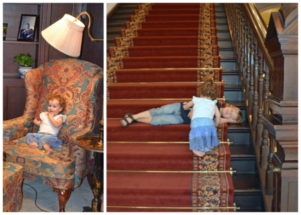 The kids make themselves at home at Raffles Singapore
