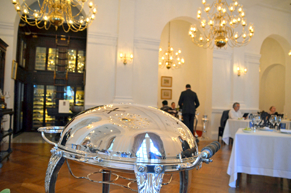 SIlver service at Raffles Grill -