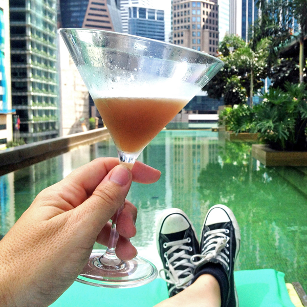 Sipping on a #35 at So Sofitel SIngapore #escapers15