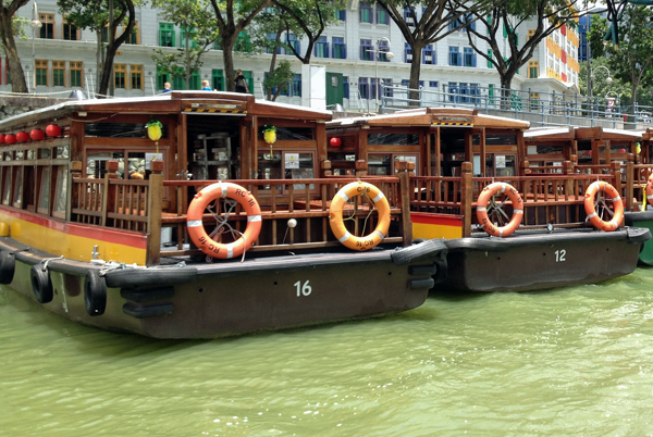 Water taxi up river, SIngapore #escapers15
