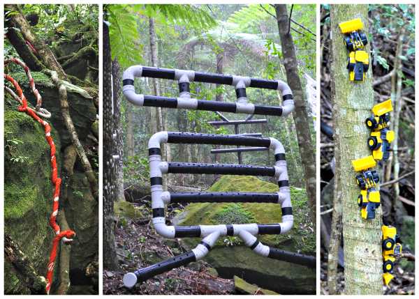 Installations at Sculpture at Scenic World