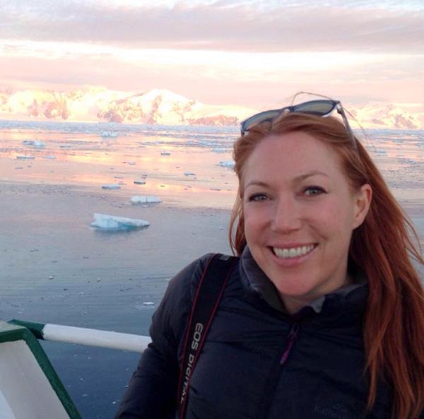 Amanda Woods in Antarctica