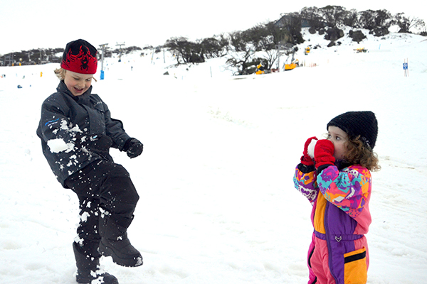 Snowball fight at Perisher