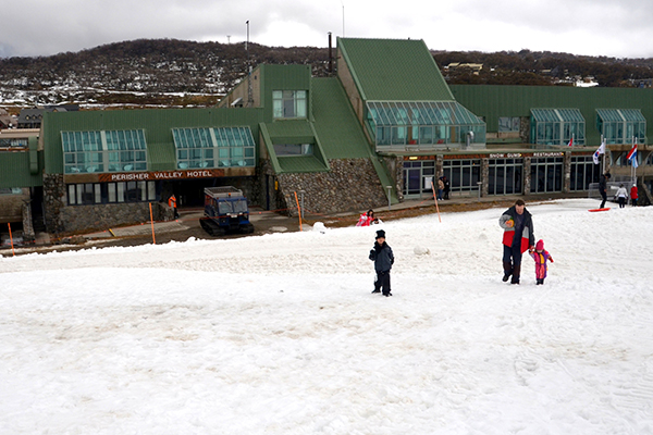 Off to explore at the Perisher Valley Hotel
