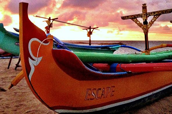 Fishing boats on the beach Holiday Inn Baruna Bali