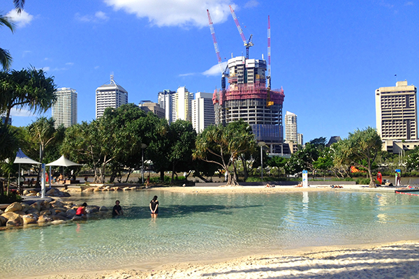 Brisbane's patrolled city water park and sandy beach #Escapers15