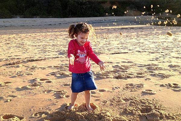 Fun in the sand at Terrigal Beach
