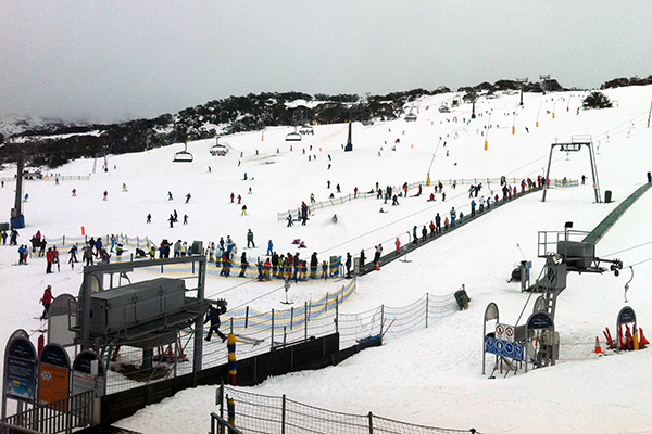 The view from the Perisher Valley Hotel