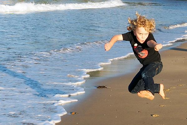 Raffles takes on Terrigal Beach Ninja Style