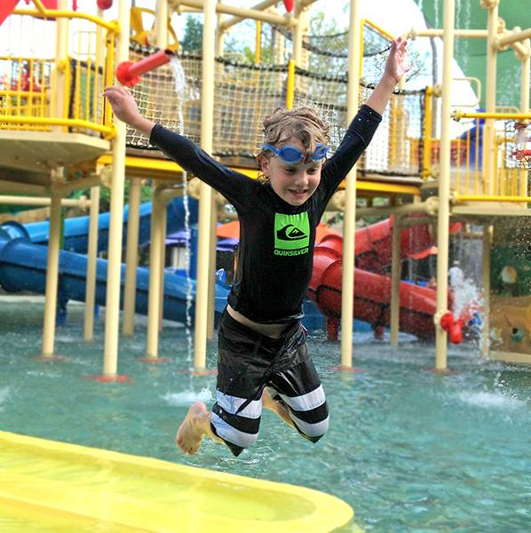Waterbom's kids water play zone.