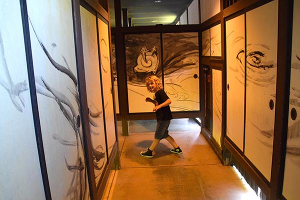 Raffles makes his way down secret passages at Azuchi Momoyama Bunka Mura