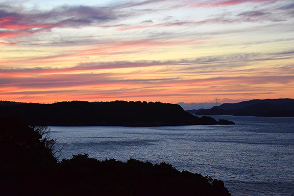 sunset in Toba, Mie Prefecture, Japan