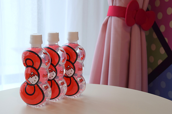 Hello Kitty treats in our Hello Kitty room at the Keio Plaza Hotel Tokyo