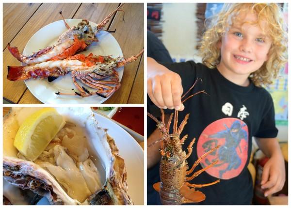 Ise ebi (spiny lobster) and Matoya kaki (oysters) in Toba