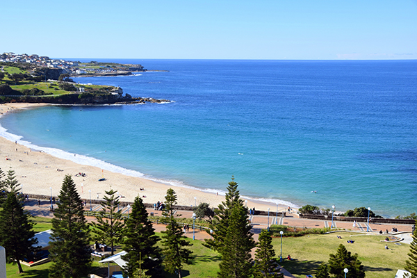 Our view from Crowne Plaza Coogee Beach