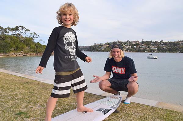 Raffles & surfer Alex Hayes