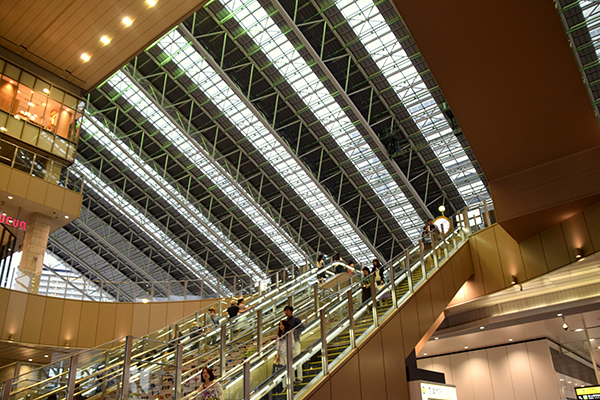 The cavernous JR Osaka Station